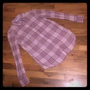 Old Navy Pink Plaid Button Up! Size XS